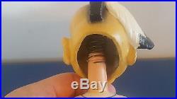 (VTG) 1960s MILWAUKEE BRAVES INDIAN BOBBLE HEAD NODDER DOLL WHITE BASE JAPAN