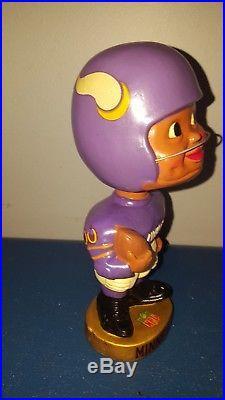 VTG 1960s Minnesota Vikings football black face nodder bobbing head doll Japan