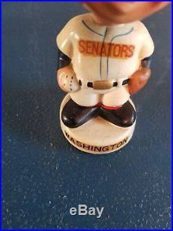 (VTG) 1960s Washington senators baseball mini bobble head nodder doll Japan rare