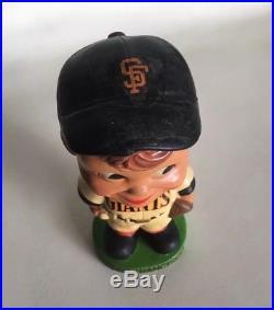 VTG 1962 SAN FRANCISCO GIANTS Nodder Bobblehead Doll JAPAN Green Base MLB SF CAL