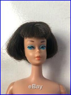 VTG American Girl Barbie Brunette Short Hair Bendable Legs 1965 Japan Mattel