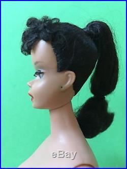 Vtg Barbie #3 Brunette Doll Hoop Earringsjapan