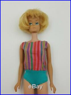 Vintage1958 American Girl Barbie Doll Frosted Blonde Legs Bend made in Japan