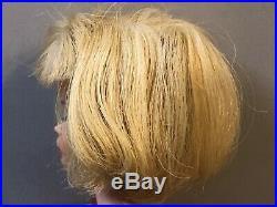 Vintage 1958 AMERICAN GIRL BARBIE Blonde Bendable Knees BARBIE DAY DRESS Japan