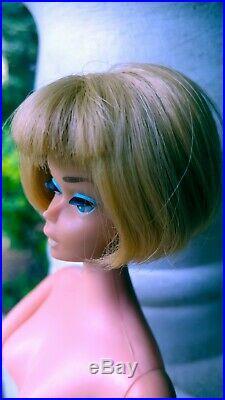 Vintage 1958 American Girl Barbie Doll Ash Blonde Rubber Legs Made in Japan