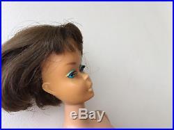 Vintage 1960s 12 Brunette American Girl Barbie Doll Japan Black Swimsuit
