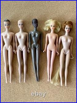 Vintage 1960s Barbie Lot fashion queen bubblecut malibu christie francie japan