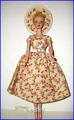 Vintage 1960s Blonde Poodle Bangs Ponytail Barbie With Nipples Body Doll Dressed