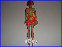 Vintage 1962 Barbie Doll Ash Blonde Bubblecut Midge Japan on Foot
