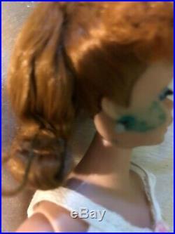 Vintage 1962 Japan Ponytail Red Hair Barbie Dog Case Accessories