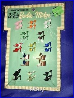 Vintage 1963 Barbie Shoe Pak Open toe heels MOC NRFB Christie PJ RARE NRFP JAPAN