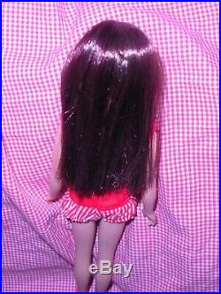 Vintage 1964 Dark Cherry Brunette Color Magic Straight Leg Skipper Japan