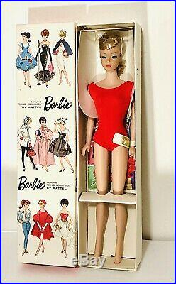 Vintage 1964 Redhead Swirl Ponytail Barbie Doll Model 850 Mattel Japan NRFB
