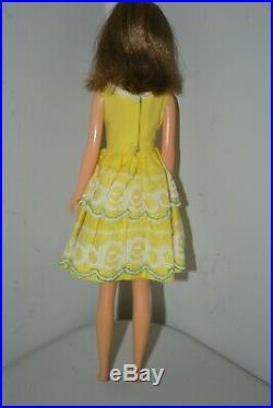 Vintage 1965 Francie Brunette Barbie's Cousin #1 on Back Rear From Japan