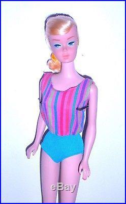 Vintage 1965 Lemon Blonde Swirl Ponytail American Girl Barbie 1070 Japan Mint