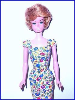Vintage 1966 Ash Blonde American Girl Bubble Cut Barbie 1070 Japan Mint