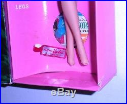 Vintage 1966 Brunette Side Part American Girl Barbie 1070 Japan MIB