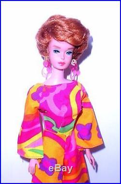 Vintage 1966 Titian Redhead American Girl Bubble Cut Barbie 1070 Japan Mint