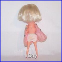 Vintage 1968 KAMAR Big Eyed Blonde Doll Tia Maria Gigi Jones Japan Org Outfit
