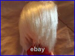 Vintage 1968 KAMAR Doll Japan LISA Platinum Blonde Big Eye Pre-Blythe in tube