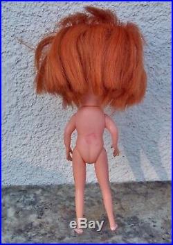 Vintage 1968 Original Japan Kamar Doll Big Eyes Red Head Gigi Jones Pre Blythe