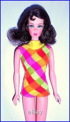 Vintage 1969 Brunette Marlo Thomas Flip Twist N Turn TNT Barbie 1160 Japan Mint