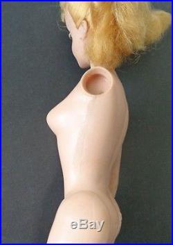 Vintage #3 Barbie Doll Blonde Ponytail MCMLVIII Japan Mattel Original Owner