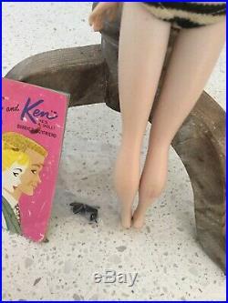 Vintage #3 Brunette GORGEOUS Ponytail Barbie TM Doll`BOOKLET PUMPS JAPAN