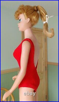 Vintage #6 Titian Redhead Ponytail Barbie Doll Japan 1960's Mattel