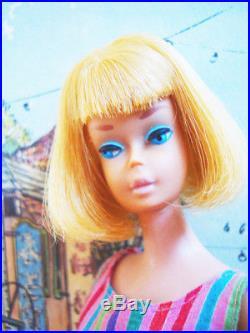 Vintage American Girl Barbie Long Lemon Blond Hair, Box A Beauty Mattel Japan