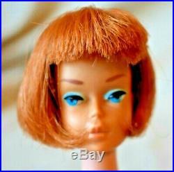 Vintage American Girl Barbie Mattel Titian (red) Hair HC Japan 1965