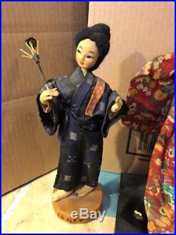 Vintage Asian Japanese Doll Shuri Woman's Handicraft Club Okinawa onLacquer Base