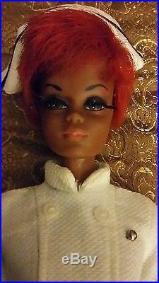 Vintage BARBIE Nurse Julia Doll Twist N Turn copyright 1966 JAPAN w orig CLOTHES