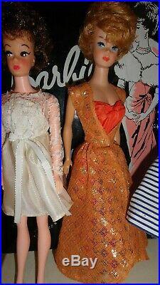 Vintage Barbie 1960 s Early Lot Japan Bubblecut Clone Clothes Shoes Acces. Case