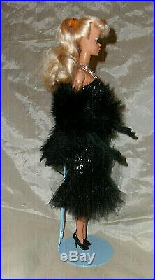 Vintage Barbie 1986 Ma-ba Platinum Blond Pb Store Japan Excl. Black Evening