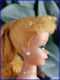 Vintage Barbie#3#4Blonde Ponytail Japan TM#850Crayon Fragrant Body+Ships Free