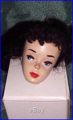 Vintage Barbie #3 Brunette Ponytail Doll head, and tlc TM solid pale body, Japan