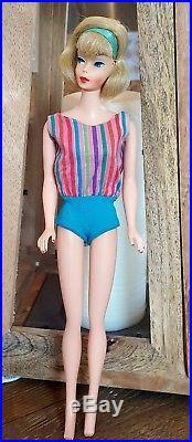 Vintage Barbie American Girl Side Part PINK SKIN Japan doll-Stunning