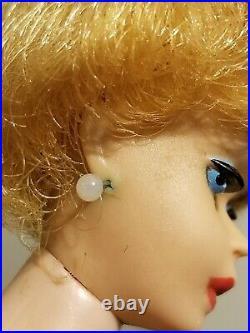 Vintage Barbie Doll #850 Blonde Bubble Cut 1st Issue 1961 Mattel
