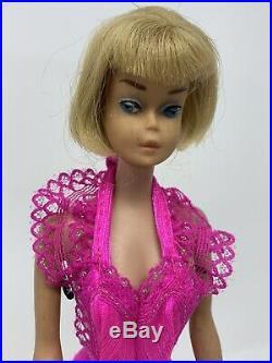 Vintage Barbie Doll American Girl Blonde #1070 1960's Bendable Leg Japan