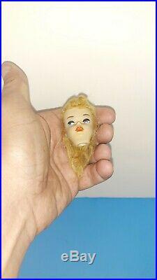 Vintage Barbie Doll Blonde Head ONLY #3 BROWN EYELINER Ponytail EXCELLENT JAPAN