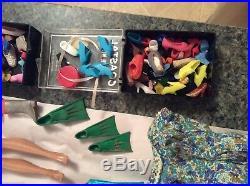 Vintage Barbie Doll, Clothes, Accessories HUGE Lot Bubble Cut, Ponytail, Japan