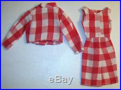 Vintage Barbie Doll RARE Japan Exclusive #21002628 Red Check Outfit #2628 EXC