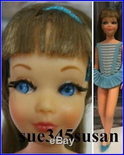Vintage Barbie Doll Skipper Doll Brunette #1105 Bendleg Japan OSS, Shoes, H/B