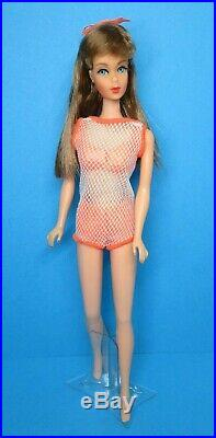 Vintage Barbie Doll TNT TWIST'N TURN GO GO CO CO Auburn Brown Hair Swimsuit