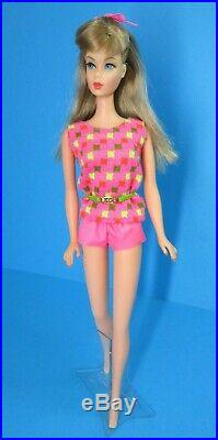 Vintage Barbie Doll TNT TWIST'N TURN Summer Sand Ash Blonde Hair & Swimsuit