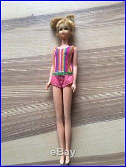 Vintage Barbie/ Francie, Blond, Echte Wimpern, made in Japan, Original Outfit