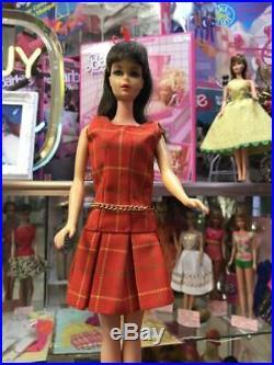 Vintage Barbie JAPANESE EXCLUSIVE tweed jumper skirt dress Japan factory mint