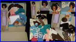 Vintage Barbie, Lot, Bubble Cut, Barbie Doll, Navy Lame, Japan Heels, Case, Accessory