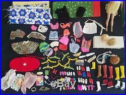 Vintage Barbie Midge Skipper Dolls Clothes Shoes Heads Case Japan Drawer TLC
